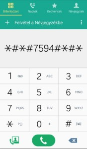 Android kódok listája