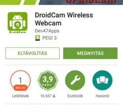 DroidCam letöltése androidra