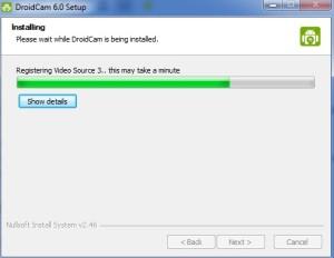 DroidCam PC telepítése