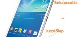 Samsung Galaxy Tab 3 képernyőfotó készítése
