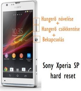 Sony Xperia hard reset lépései