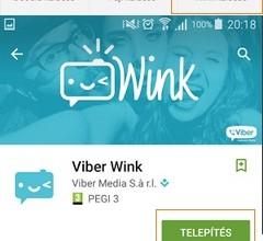 Viber Wink letöltése és telepítése