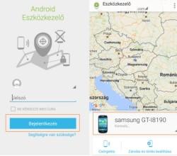 Android eszközkezelő - Android nyomkövető alkalmazás