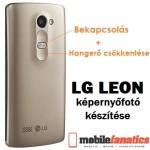LG Leon képernyőfotó készítése