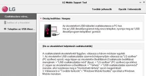 LG Leon szoftverfrissítés számítógéppel