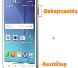 Samsung Galaxy J5 képernyőfotó készítése