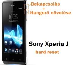 Sony Xperia J hard reset lépései