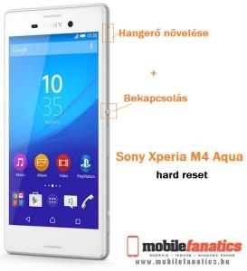 Sony Xperia M4 Aqua hard reset lépései