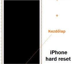 Nem kapcsol be az iPhone hard reset!