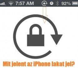 iPhone lakat jel