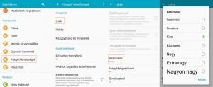 Android betűméret növelés