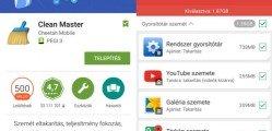 Android cleaner alkalmazások Clean Master