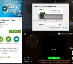 Android távolságmérő alkalmazás