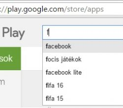 Google Play áruház keresés