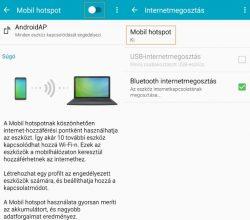 android internet megosztás WiFi hotspot