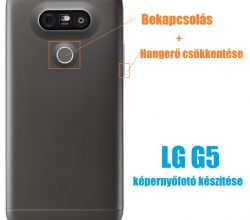 LG G5 képernyőfotó készítése