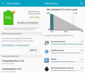 android akkumulátor kalibrálás