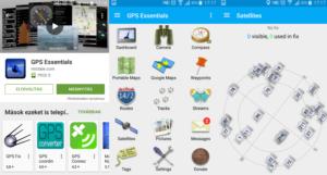 Android GPS jel erősítés GPS Essentials
