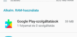 Android gyorsítás futó alkalmazások