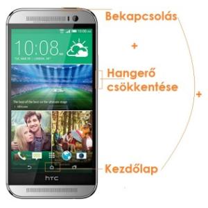 Android screenshot készítése - HTC