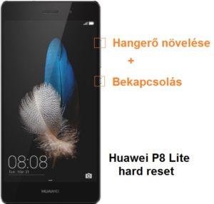 Huawei P8 Lite hard reset lépései