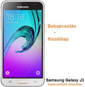 Samsung Galaxy J3 képernyőfotó készítése