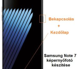 Samsung Galaxy Note 7 képernyőfotó készítése
