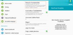 Samsung telefon frissítés lépései