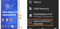 Sony screenshot készítése