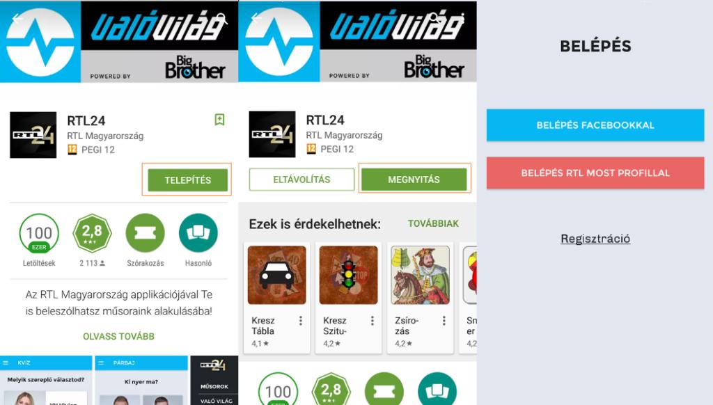 RTL24 applikáció letöltése androidra
