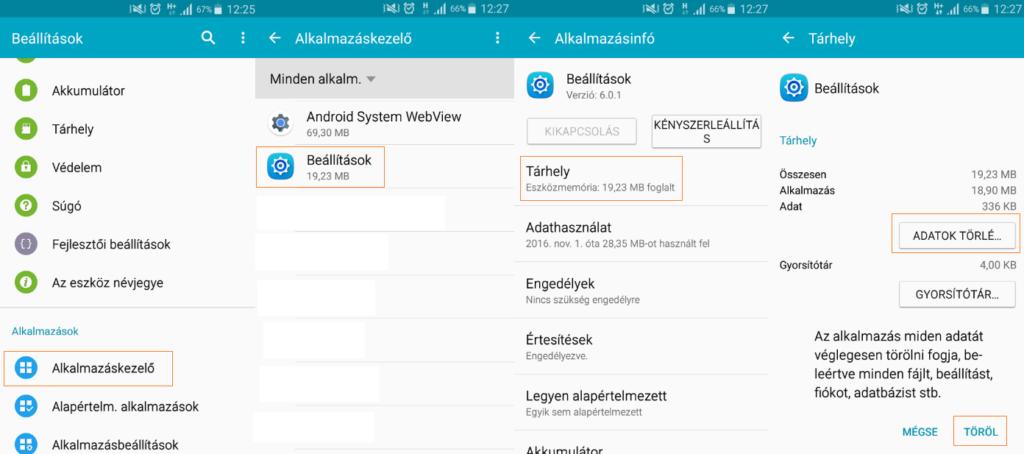 Android fejlesztői mód kikapcsolása