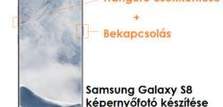 Samsung Galaxy S8 képernyőfotó