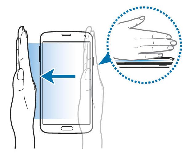Samsung Galaxy S8 képernyőmentés tenyérhúzással