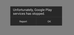 Google Play szolgáltatások leállt
